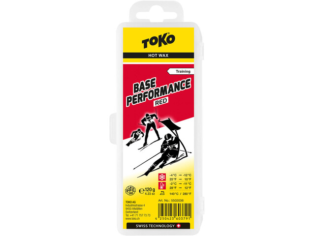 Toko Base Performance HydroCarbon Wachs Red 120g